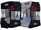 Mens Smart Argyle Socks Diamond 3 Pair Pack Shoe Size 6 - 11 Golf Suit Casual Socks