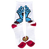 Santa Cruz Socks – Screaming Hand white size: OSFA (One size fits any)