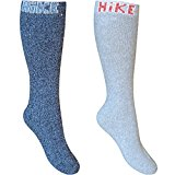 Men's Cotton Rich Outdoor Hiking Socks (2 Pair Multi Pack)