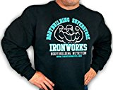 Mens Team Ironworks Sweatshirt Black D-28