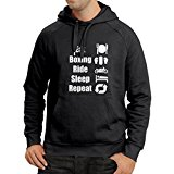 Hoodie Eat Boxing Ride Sleep Repeat - for fighters and riders motivational sports quotes