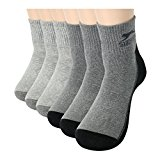 3 to 6 Pairs Mens Cotton Cool Fashion Crew Quarter Ankle Dress Socks Grey Black